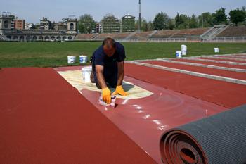 Материалы MAPEI для спортивных покрытий