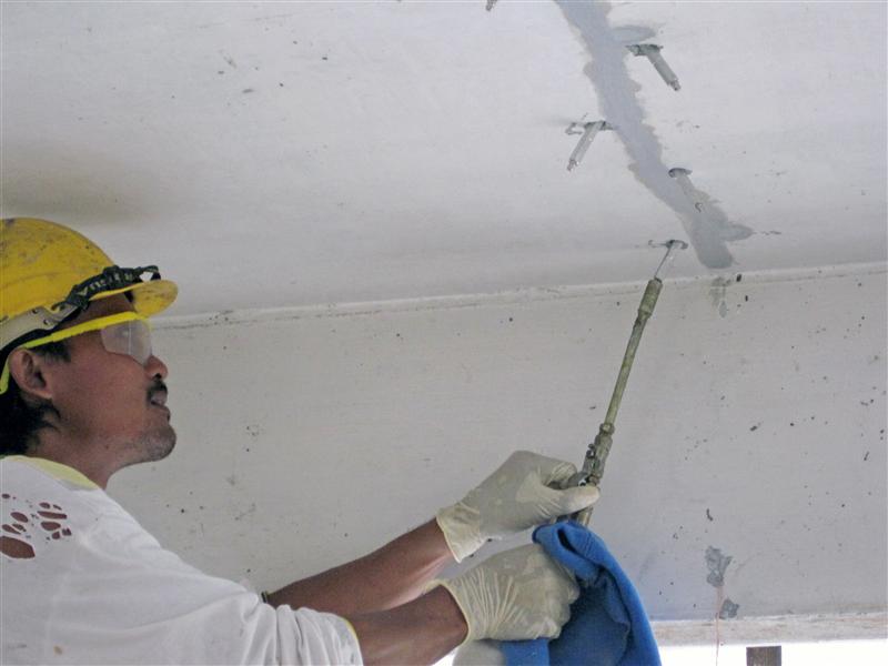 ремонт трещин инъекционными материалами MAPEI